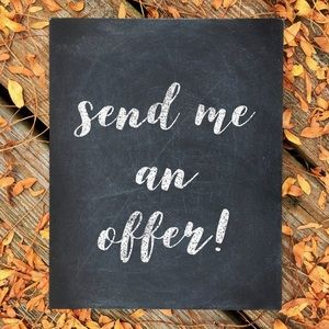 Offers welcome here ❤️